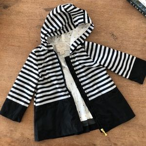Kate Spade toddler girls stripe rain jacket 18M